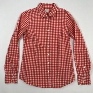 Womens J Crew Perfect Shirt Cotton Size 2